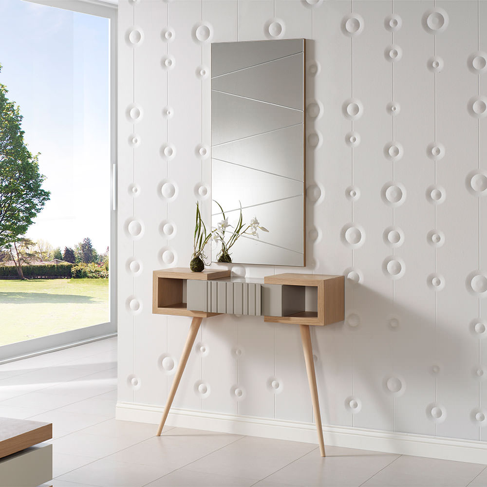 Recibidor composici n 018 muebles zhar - Decorar una entrada estrecha ...