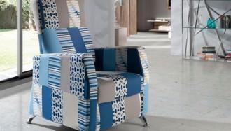Sillón Florida Patchwork Blue, original y moderna
