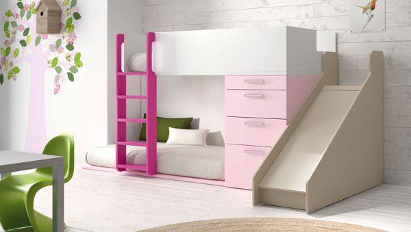 Dormitorio juvenil con litera infinity