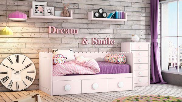 Dormitorio Juvenil nido P&C Kids para niñas