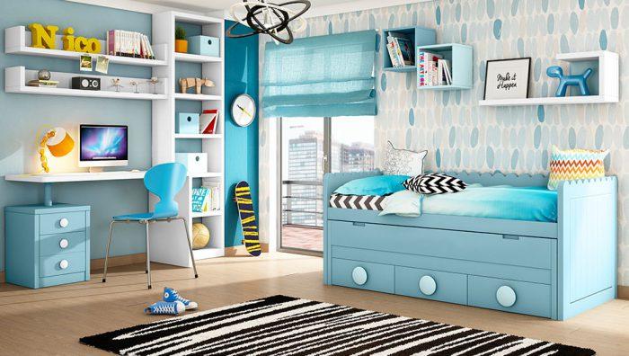 Dormitorio Juvenil P&C Kids Blanco Compacto