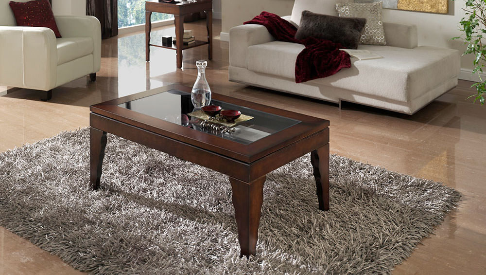 Mesa de centro alhambra muebles zhar for Mesas auxiliares clasicas