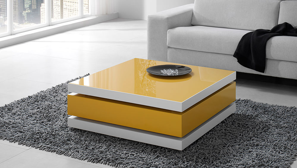 Mesa de centro moderna muebles zhar for Mesas esquineras modernas