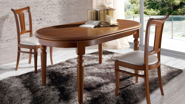 Mesa de comedor 072 1 muebles zhar for Mesas auxiliares clasicas