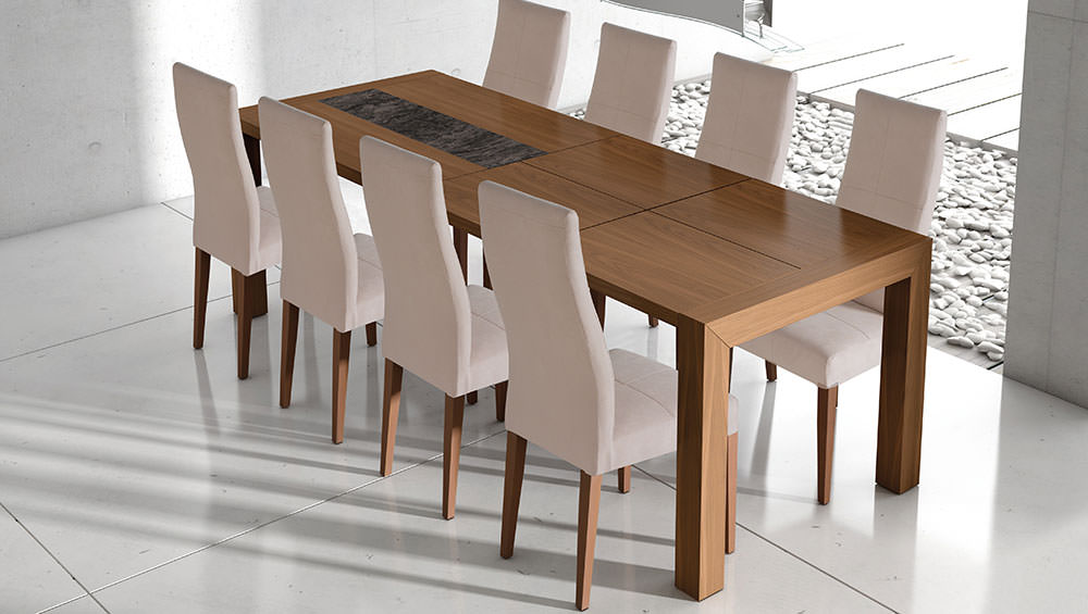 Mesa de comedor impacto muebles zhar for Mesas y sillas modernas