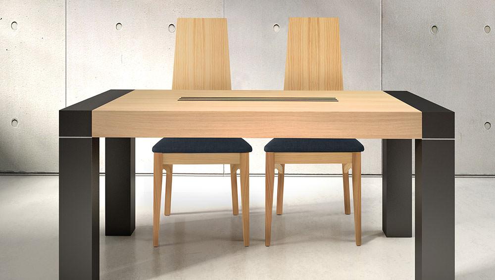 Mesa de comedor vento muebles zhar for Mesas de comedor cuadradas modernas