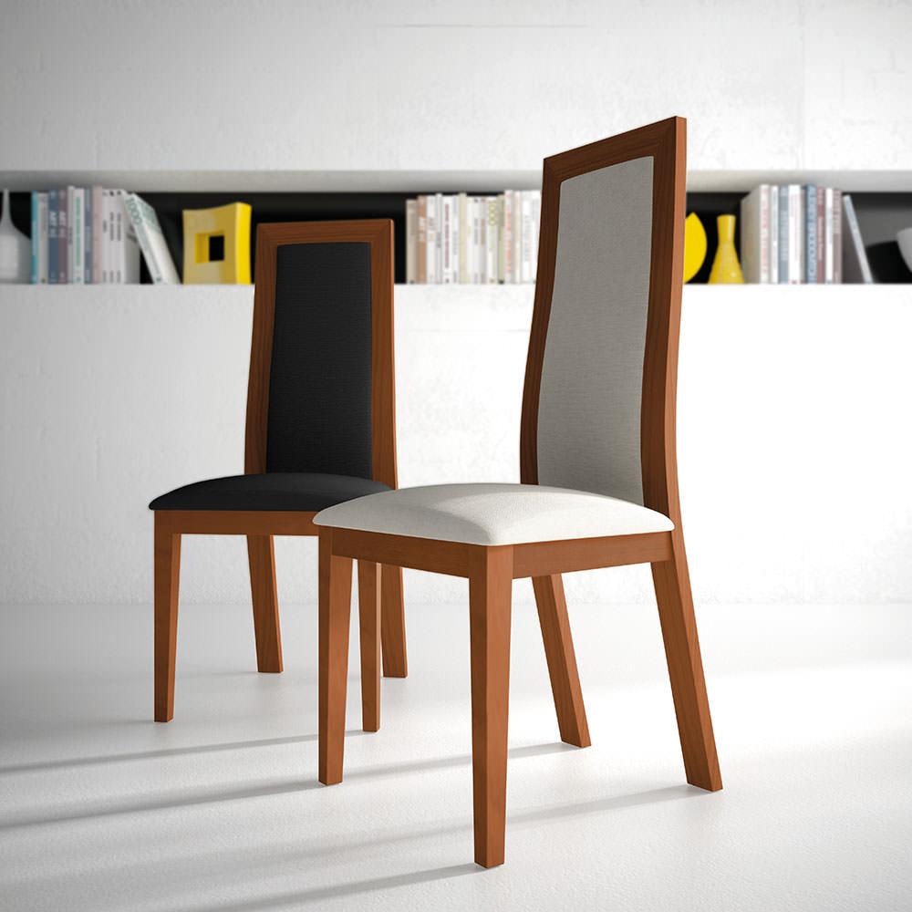 Silla berta silla moderna de respaldo alto Sillas de comedor blancas modernas