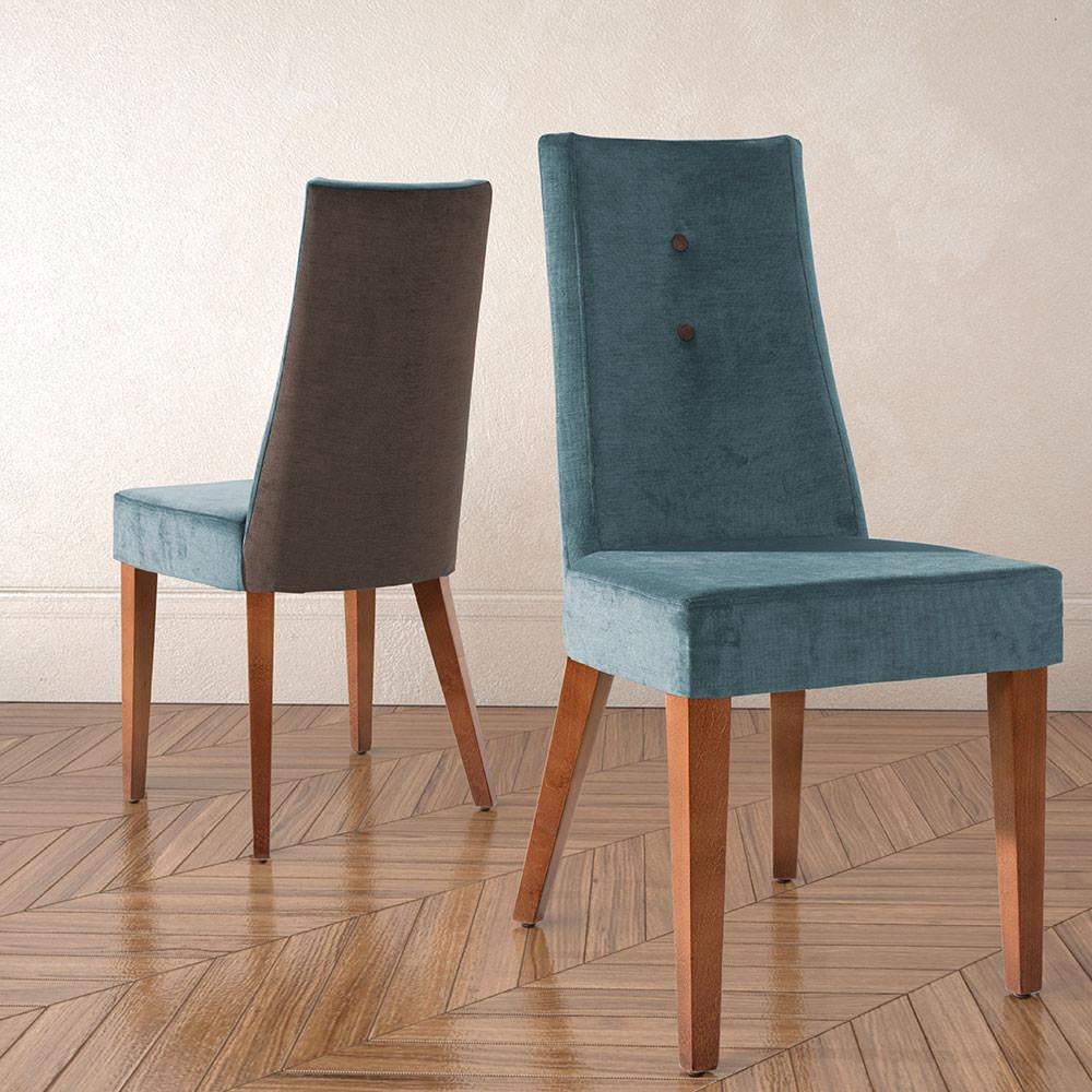 Silla elegant silla de comedor moderna con botones for Sillas descanso modernas