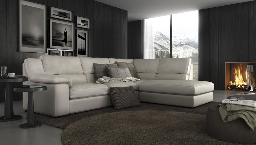 Sof isi muebles zhar for Sofa piel chaise longue