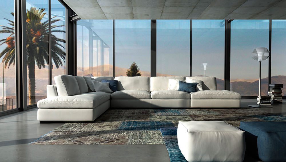 Sof izu muebles zhar - Sofa rinconera moderno ...
