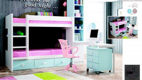 Dormitorio Juvenil para niñas