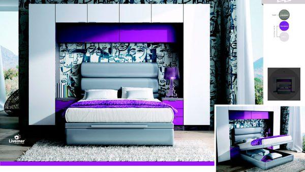 Dormitorio Juvenil blanco con canapé