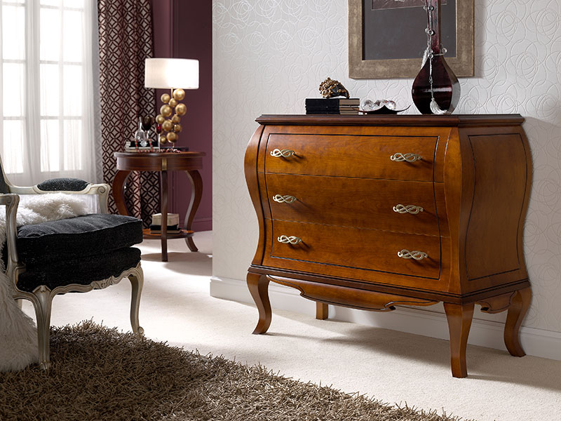 C moda cl sica en cerezo muebles zhar - Muebles comodas clasicas ...