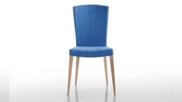 silla de comedor azul archy