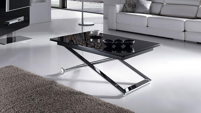 Mesa de centro elevable y extensible muebles zhar for Mesa elevable y extensible
