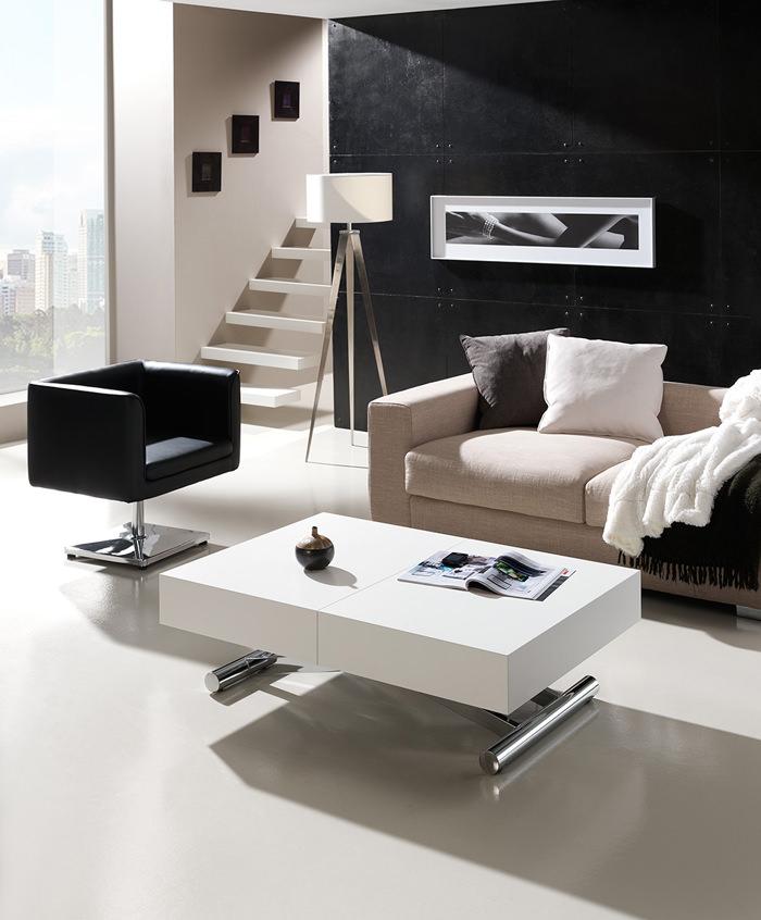 mesa de centro blanca indesan actia