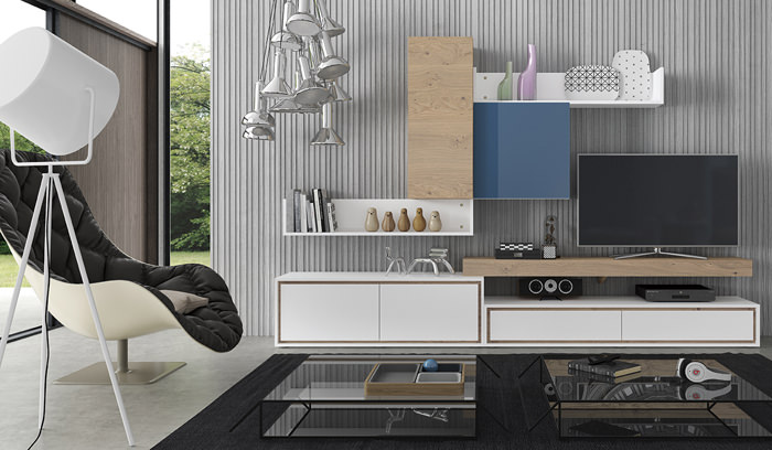 Mueble de sal n laurel hardy sal n modular moderno for Fabricantes muebles salon