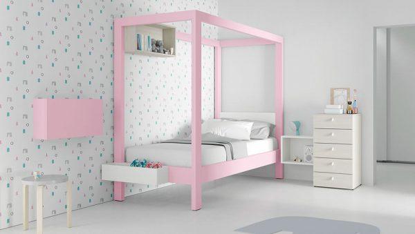 Dormitorio Juvenil con dosel del fabricante JJP