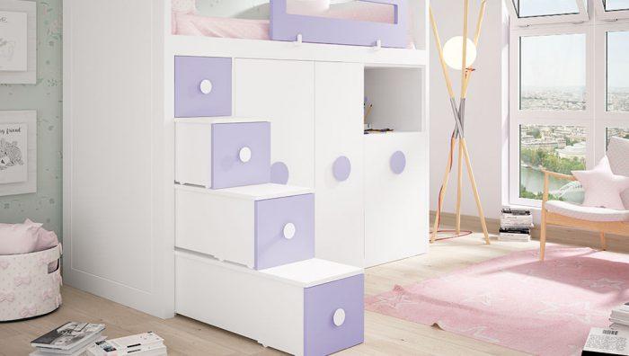 Dormitorio juvenil blanco  lavanda del fabricante Pinero y Cabrero