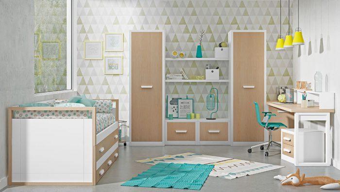 Dormitorio juvenil blanco roble del fabricante Pinero y Cabrero