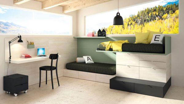 Dormitorio juvenil Montreal del fabricante Lagrama