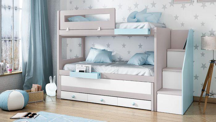 Dormitorio juvenil blanco perla blanco polo del fabricante Pinero y Cabrero