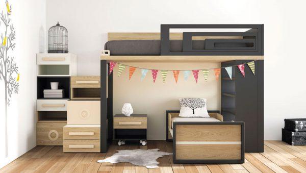 Dormitorio juvenil dos camas Viena del fabricante Lagrama