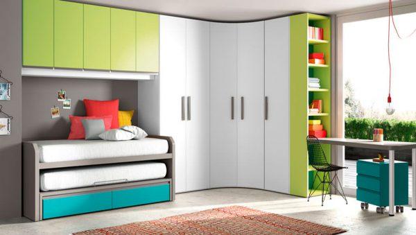 Dormitorio juvenil armario rincón York del fabricante Lagrama